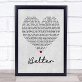 Gerry Cinnamon Belter Grey Heart Song Lyric Quote Print