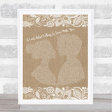 UB40 (I Can't Help) Falling In Love With You Burlap & Lace Song Lyric Print