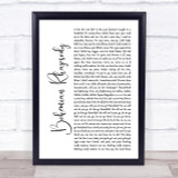Queen Bohemian Rhapsody White Script Song Lyric Quote Print