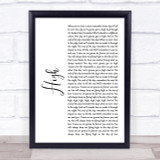Lighthouse Family High White Script Song Lyric Quote Print