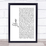 Depeche Mode Home White Script Song Lyric Quote Print