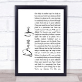 Nirvana Drain You White Script Song Lyric Quote Print