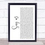 Stone Sour Song 3 White Script Song Lyric Quote Print
