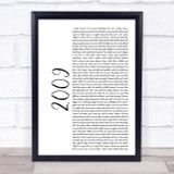 Mac Miller 2009 White Script Song Lyric Quote Print