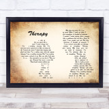 All Time Low Therapy Man Lady Couple Song Lyric Quote Print