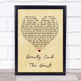 Angela Lansbury Beauty And The Beast Vintage Heart Song Lyric Quote Print