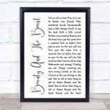Angela Lansbury Beauty And The Beast White Script Song Lyric Quote Print