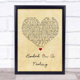 Blue Swede Hooked On A Feeling Vintage Heart Song Lyric Quote Print