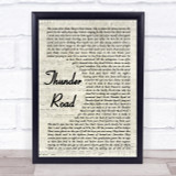 Bruce Springsteen Thunder Road Vintage Script Song Lyric Quote Print