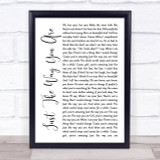 Bruno Mars Just The Way You Are White Script Song Lyric Quote Print