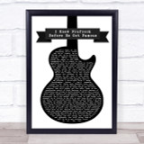 Frank Turner I Knew Prufrock Before He Got Famous Guitar Song Lyric Print
