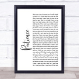 Guns N' Roses Patience White Script Song Lyric Quote Print
