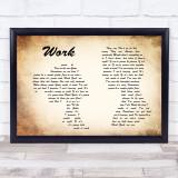 Kane Brown Work Man Lady Couple Song Lyric Quote Print