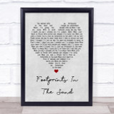 Leona Lewis Footprints In The Sand Grey Heart Song Lyric Quote Print