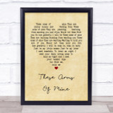 Otis Redding These Arms Of Mine Vintage Heart Song Lyric Quote Print