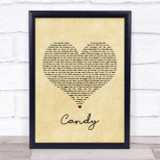 Paolo Nutini Candy Vintage Heart Song Lyric Quote Print