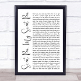 Paul Weller Sweet Pea, My Sweet Pea White Script Song Lyric Quote Print