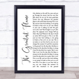 Runrig The Greatest Flame White Script Song Lyric Quote Print
