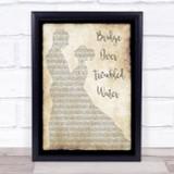 Simon & Garfunkel Bridge Over Troubled Water Man Lady Dancing Song Lyric Print
