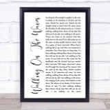 Skipinnish Walking On The Waves White Script Song Lyric Quote Print