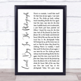 Stereophonics Local Boy In The Photograph White Script Song Lyric Quote Print