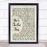 The Style Council You're The Best Thing Vintage Script Song Lyric Quote Print