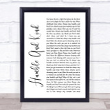 Tim McGraw Humble And Kind White Script Song Lyric Quote Print