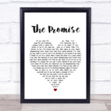 Tracy Chapman The Promise White Heart Song Lyric Quote Print