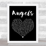 Robbie Williams Angels Black Heart Song Lyric Quote Print