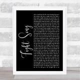 Rachel Platten Fight Song Black Script Song Lyric Quote Print
