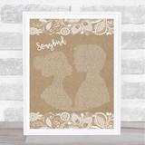 Eva Cassidy Songbird Burlap & Lace Song Lyric Print