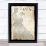 Jake Owen Made For You Man Lady Dancing Song Lyric Quote Print