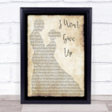 Jason Mraz I Won't Give Up Man Lady Dancing Song Lyric Quote Print