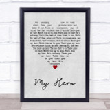 Foo Fighters My Hero Grey Heart Quote Song Lyric Print