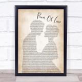 Jennifer Rush Power Of Love Man Lady Bride Groom Wedding Print