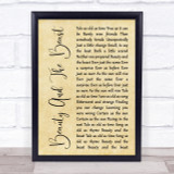 Angela Lansbury Beauty And The Beast Rustic Script Song Lyric Quote Print