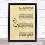 Gerry Cinnamon Belter Rustic Script Song Lyric Quote Print