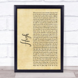 Lighthouse Family High Rustic Script Song Lyric Quote Print