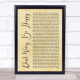 Bobby McFerrin Don't Worry, Be Happy Rustic Script Song Lyric Quote Print