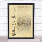 Skipinnish Walking On The Waves Rustic Script Song Lyric Quote Print