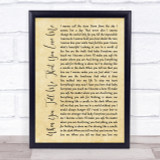 Diana Ross When You Tell Me That You Love Me Rustic Script Song Lyric Print