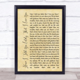 Van Morrison Have I Told You Lately That I Love You Rustic Script Song Print
