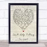 Can't Help Falling In Love Elvis Presley Script Heart Song Lyric Quote Print