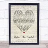 Rule The World Take That Script Heart Song Lyric Quote Print