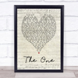 The One Kodaline Script Heart Song Lyric Quote Print
