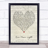 Linkin Park One More Light Script Heart Quote Song Lyric Print