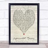 Supermarket Flowers Ed Sheeran Script Heart Quote Song Lyric Print