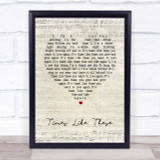 Foo Fighters Times Like These Script Heart Song Lyric Quote Print