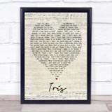 Iris Goo Goo Dolls Script Heart Quote Song Lyric Print