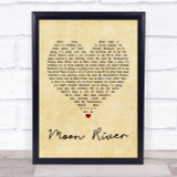 Andy Williams Moon River Vintage Heart Quote Song Lyric Print